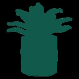 Pflanzen Sie einfache lange Blätter Silhouette
