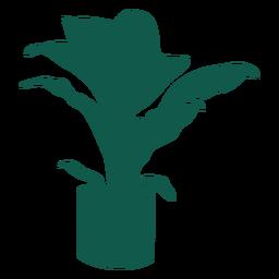 Pflanzen Sie einfache dicke Blätter lange Blätter Silhouette