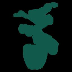Planta simple hojas finas silueta