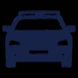 Frente del coche de policía