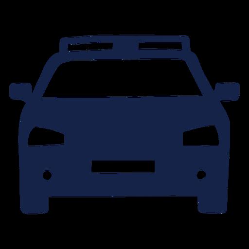 Frente del coche de policía Transparent PNG