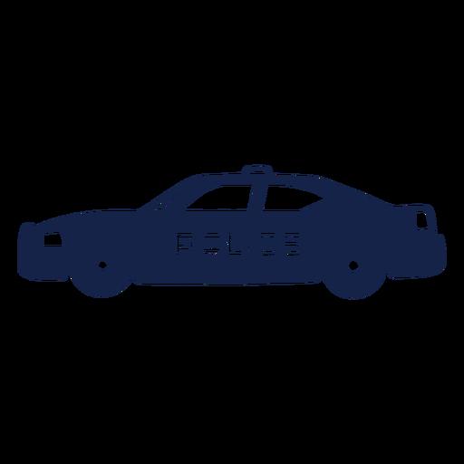 Coche de policía a la izquierda