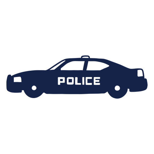 Police car left facing Transparent PNG