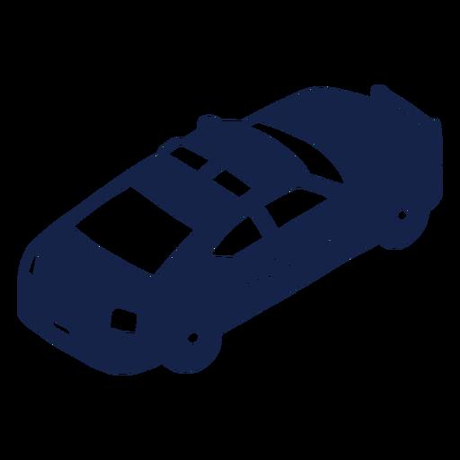 Coche de policía a la izquierda en ángulo moderno