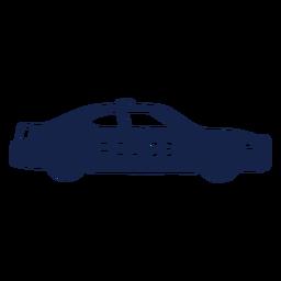 Carro de polícia virado para a direita