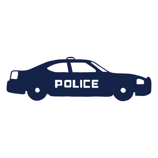 Police car right facing