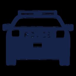 Frente de van de carro de polícia