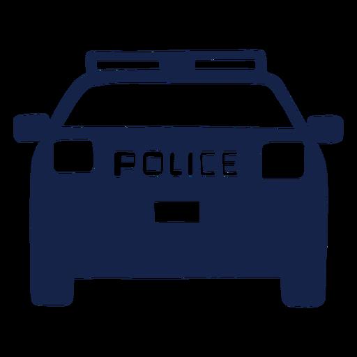 Police car van front Transparent PNG