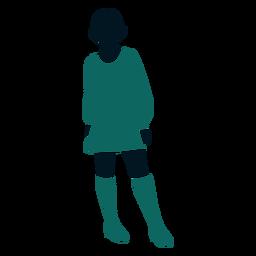 Retro 60s girl standing