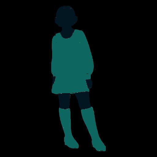 Retro 60 niña posición Transparent PNG