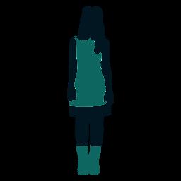 Retro 60s chica de pie cabello largo