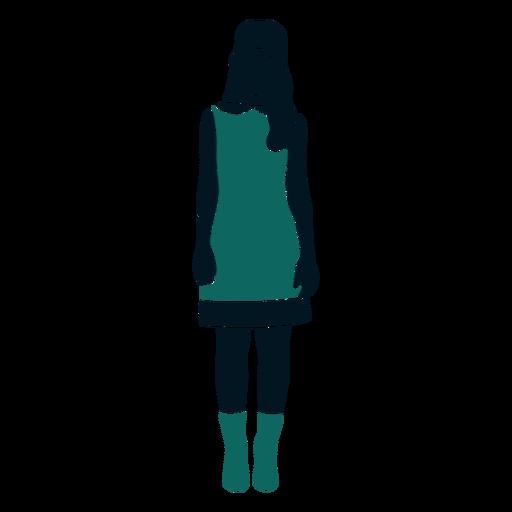 Retro años 60 chica de pie cabello largo Transparent PNG