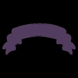 Banner ondulado con extremos ondulados curvos