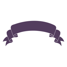 Ribbon banner wavy ends curved