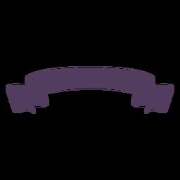 Ribbon banner ondulado termina curvo simple