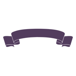 Ribbon banner wavy ends curved simple