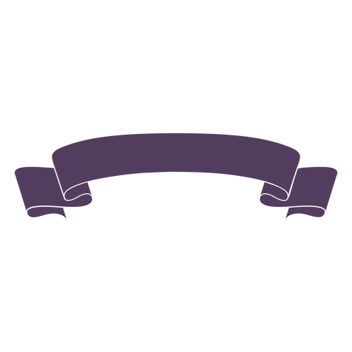 Ribbon banner wavy ends curved simple Transparent PNG