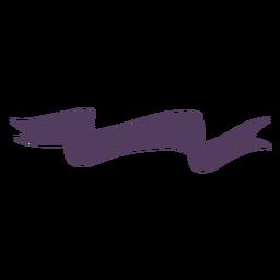 Banner ondulado termina ondulado como serpiente