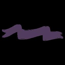 Banner ondulado termina ondulado serpiente como inclinada