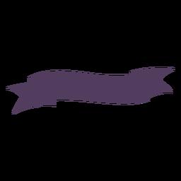 Faixa de fita ondulada termina em linha reta