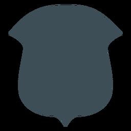 Diseño de escudos vikingos silueta redonda superior inferior