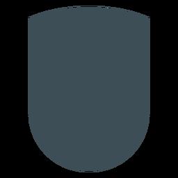 Diseño de escudos wankel silueta superior curva