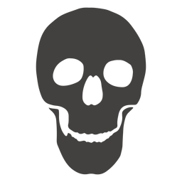 Skull human jaw open