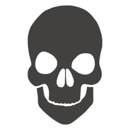 Skull human short chin