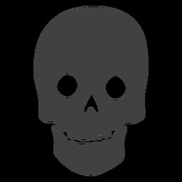 Cráneo humano dientes visibles