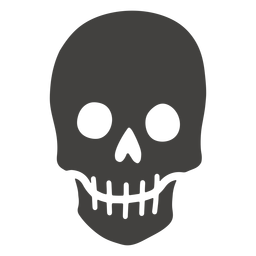 Skull human visible teeth