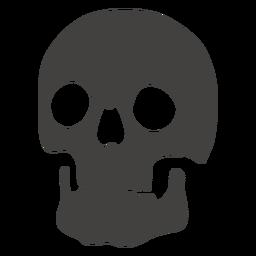 Cráneo humano dientes visibles hacia la izquierda