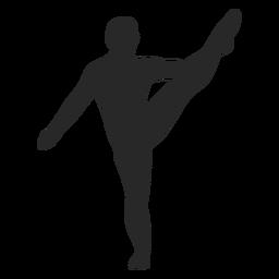 Deportes gimnasia plantea silueta de estiramiento del talón