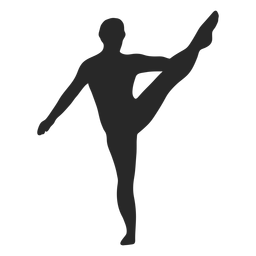 Sports gymnastic poses heel stretch silhouette