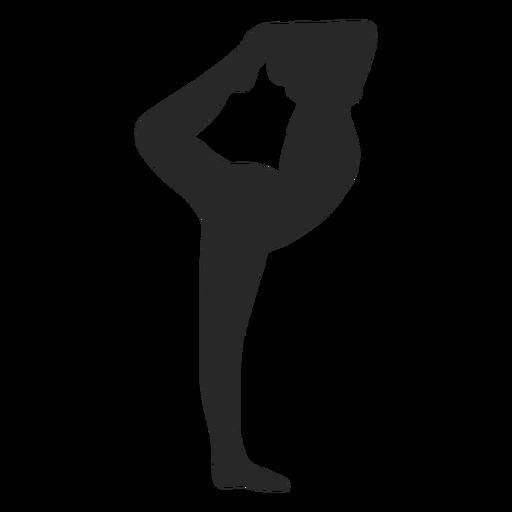 Deportes gimnasia plantea silueta de aguja