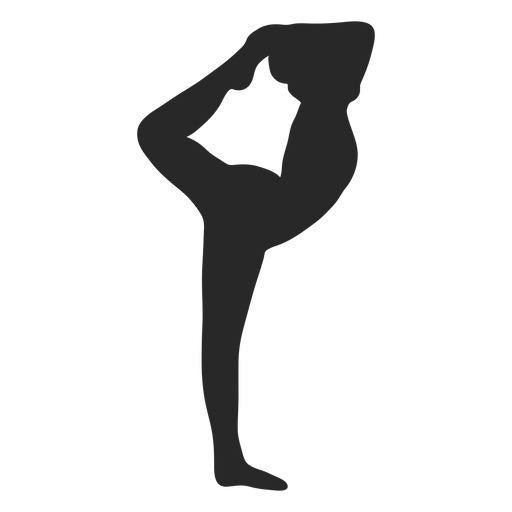 Sports gymnastic poses needle silhouette