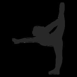 Silueta de escala de poses de gimnasia deportiva