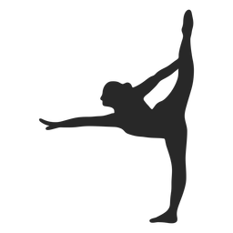 Sports gymnastic poses scale silhouette