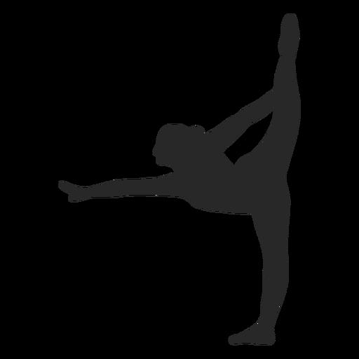 Silhueta de escala de poses de ginástica esportiva