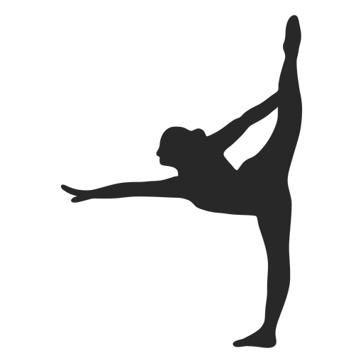 Sports gymnastic poses scale silhouette Transparent PNG