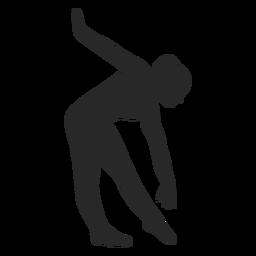 Deportes gimnasia plantea triángulo adelante silueta
