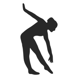 Sports gymnastic poses triangle forward silhouette