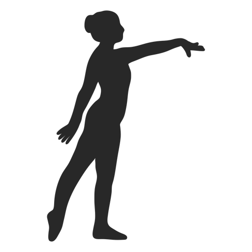 Sports gymnastic poses warrior silhouette