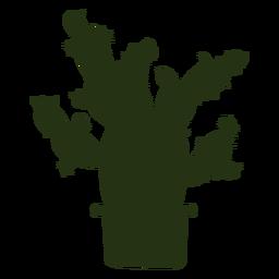 Sukkulente Pflanzen komplexe dicke Silhouette