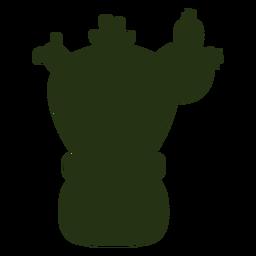 Sukkulente Pflanzen einfache dicke Silhouette