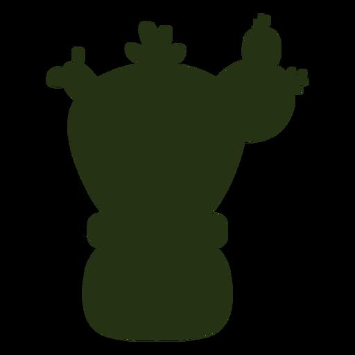 Plantas suculentas silueta gruesa simple
