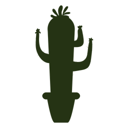 Succulent plants simple thin silhouette