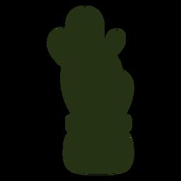Sukkulente Pflanzen einfach nach links geneigte Silhouette
