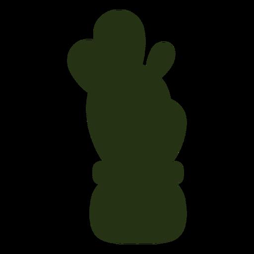 Plantas suculentas silueta izquierda inclinada simple
