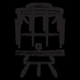 Curso elétrico dianteiro do trem