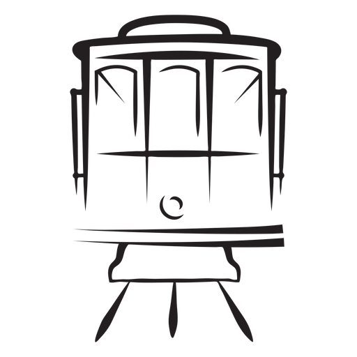Tren eléctrico frente a carrera de frente